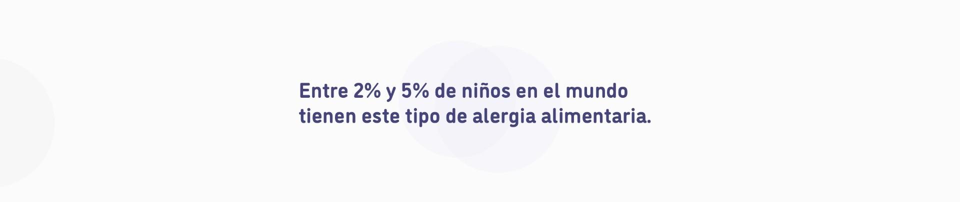 Entre el 2% y 5% de niños en el mundo tienen este tipo de alergia alimentaria.