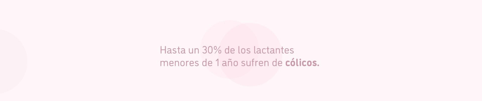 Hasta un 30% de los lactantes menores de 1 año sufren cólicos