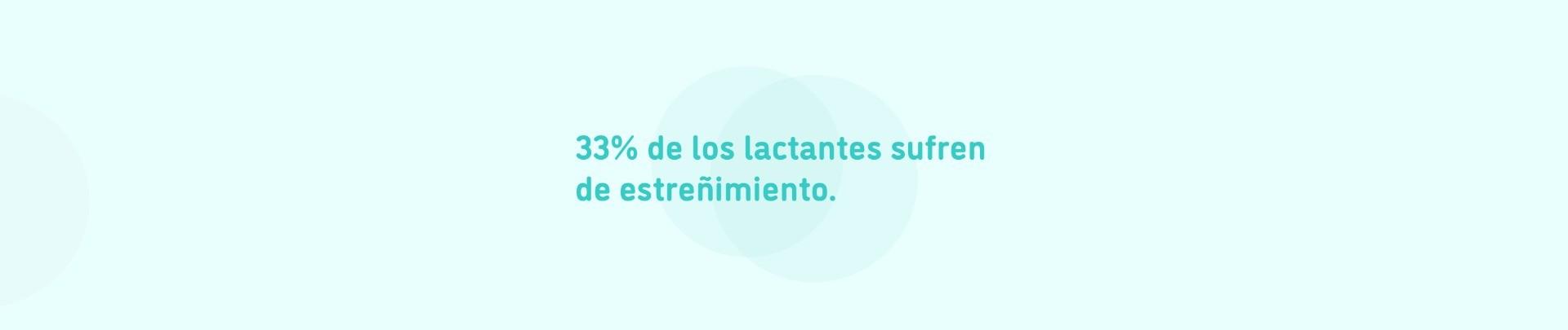 33% de los lactantes sufren estreñimiento